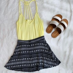 H&M Aztec Tribal Mini Skirt